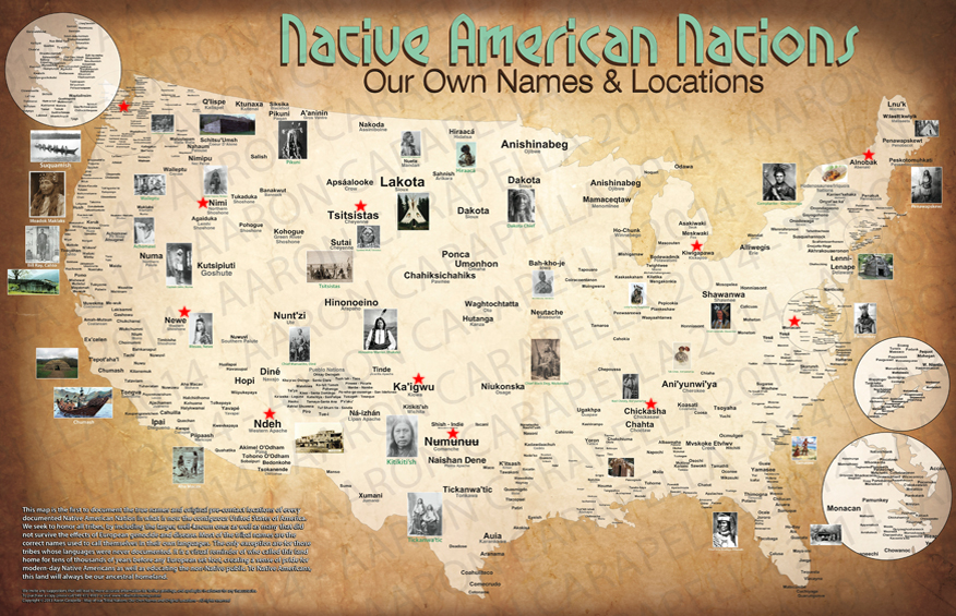 Native nations US map